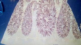 Stylish Gown cutting and STITCHING, How to make frock at home