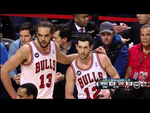 Kirk Hinrich, Bradley Beal double technicals, Wizards at Bulls, Gmae 2