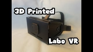 My 3D Printed Nintendo Labo VR Unit w/headstrap and comfort pad