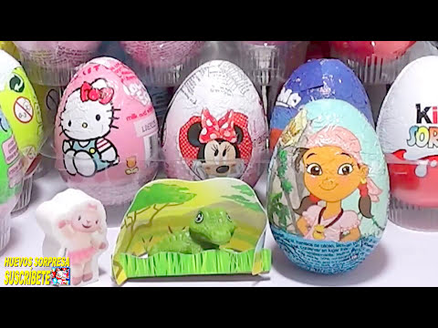 3 HUEVOS SORPRESA. huevo sorpresa Doctora juguetes, Jake y los piratas y huevo Kinder princesas