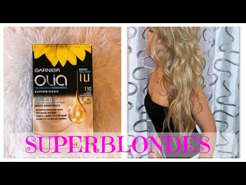 BLONDE FROM A BOX HAIR DYE? Garnier Olia 110 Super Blondes Review & Demo streaming vf