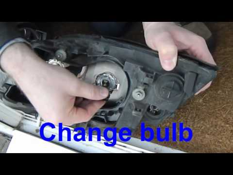 How to change a headlamp bulb on a MK3 Ford Mondeo