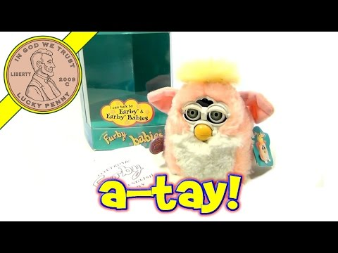 Furby Babies - Model #70 940 Pink With Yellow Hair. 1999 Tiger Electronics