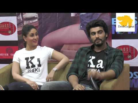 Kareena Kapoor , Arjun Kapoor interact with media on Ki & Ka in Gujarat