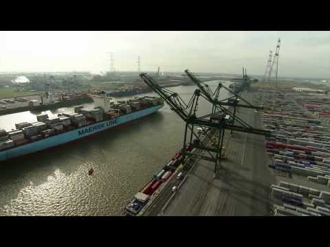 Watch how the Mary Maersk ULCS enters the Port of Antwerp