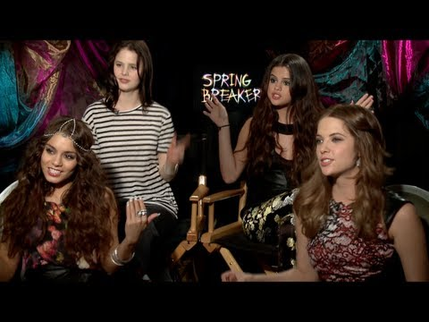 SPRING BREAKERS Interview: Selena Gomez. Vanessa Hudgens. Ashley Benson and Rachel Korine