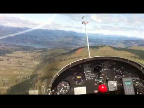 Sailplane recurency flight in Hood River, OR.