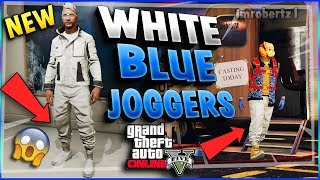Director Mode Glitch Solo GTA 5 Modded Outfits White Joggers