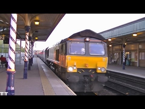 Colas Rail 66848 Platform 2 Chesterfield HD 1080p