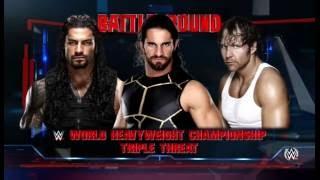 Battle Ground - Dean Ambrose Vs Seth Rollins Vs Roman Reigns WWE 2k16 Style - My Take On Match