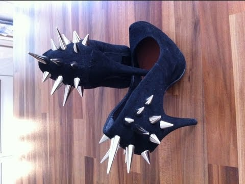 DIY Fashion Tutorial Nieten Schuhe Spike Heels