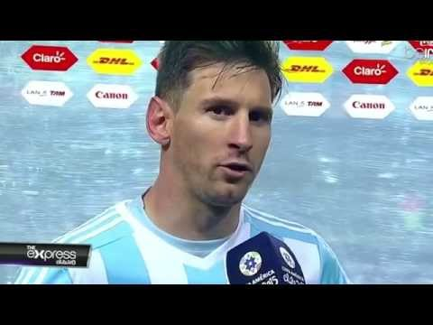 Argentina Vs Paraguay Lionel Messi Post Match Interview Copa America 2015 (translated to English)