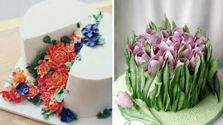 beautiful flower cake's design 😍