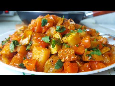 Рагу из кабачков и баклажанов по цыгански. Овощной соус.Gipsy cuisine.