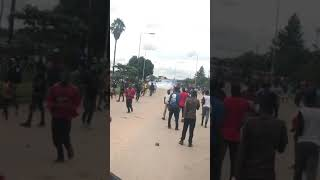 Violence in Mbare as police fire teargas and fire shots during the 2019 fuel stay away and riots
