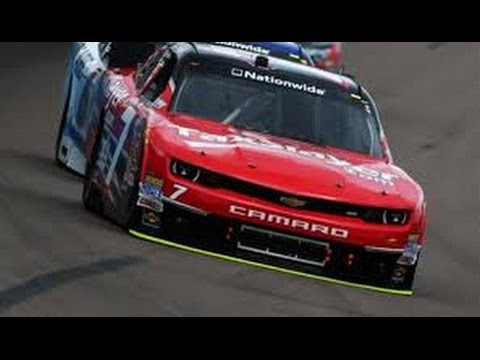 Regan Smith Crash @ 2014 NASCAR Nationwide Kansas Qualifying