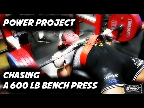 600 lb Bench Press | Power Project | Mark Bell