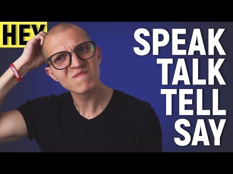 Как не путать SAY, SPEAK, TALK, TELL? (для начинающих) [НЕУ #11]