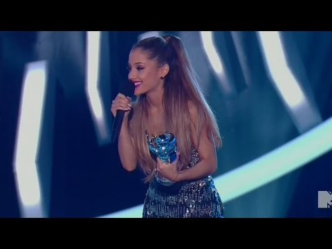 Ariana Grande Wins BIG at 2014 MTV VMAs - Acceptance Speech!