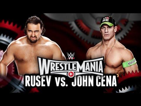 John Cena Vs Rusev Wrestlemania 31 Wwe 2k15 Match Simulation   Us Championship Match video