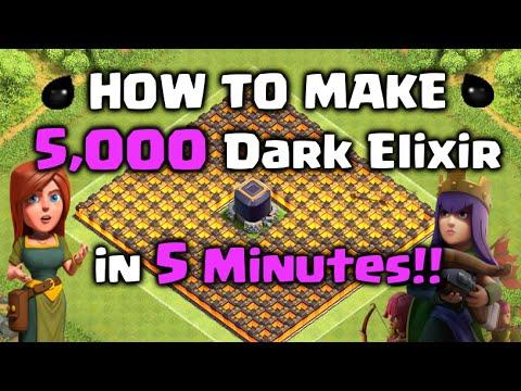 How to Farm 5,000 Dark Elixir in 5 Minutes!! Clash of Clans - DE Farming Strategy