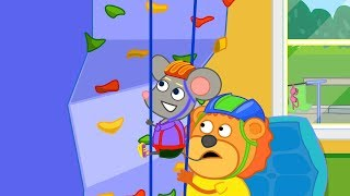 Lion Family Rock Climber Cartoon for Kids