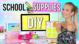 BACK TO SCHOOL DIY SCHOOL SUPPLIES ✏️Do It Yourself für Back To School - Deutsch - Cali Kessy