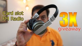 Zakk Hunter Bluetooth Headphone for around Rs. 2000 Plus 3X Giveaway, micro SD, FM built in!