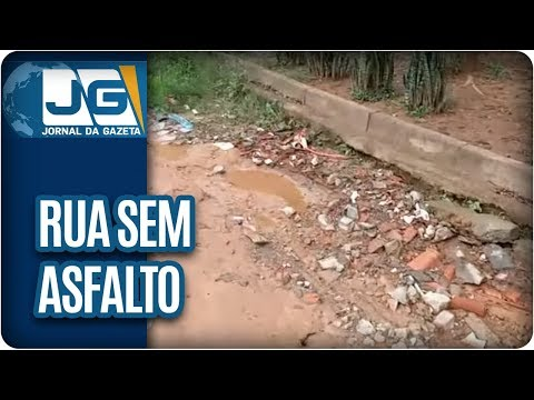 Rua sem asfalto e em péssimas condições em Franco da Rocha