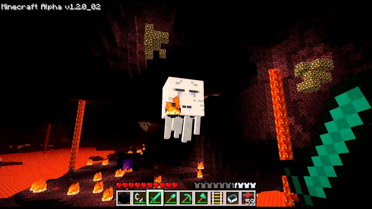 Minecraft the nether ghast - YouTube