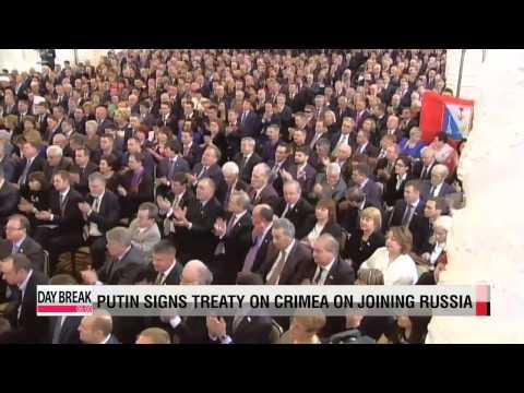 Putin signs treaty to annex Crimea to Russia