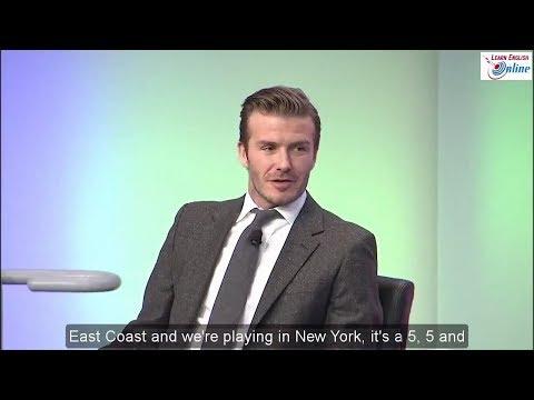Learn English with Football Star David Beckham Talk Show - English Subtitles
