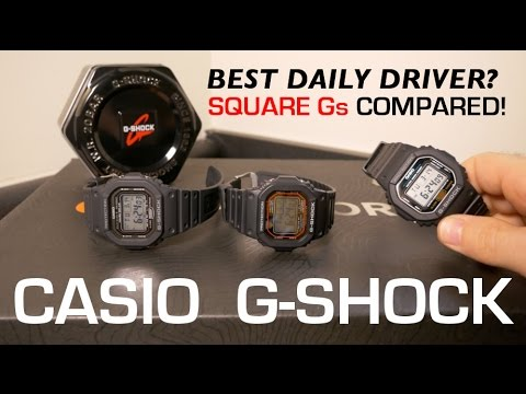 Which Square G-Shock is the Best Daily Driver? [4K UHD]