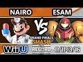 STR 2016 Smash 4 - PG | ESAM (Samus, Pikachu) Vs. NRG | Nairo (Falcon, Doc, ZSS) SSB4 Grand Finals