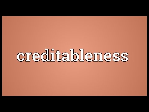 Header of creditableness
