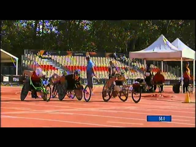 Michelle Stilwell's 2013 IPC  800m Wheelchair Race from Lyon, France
