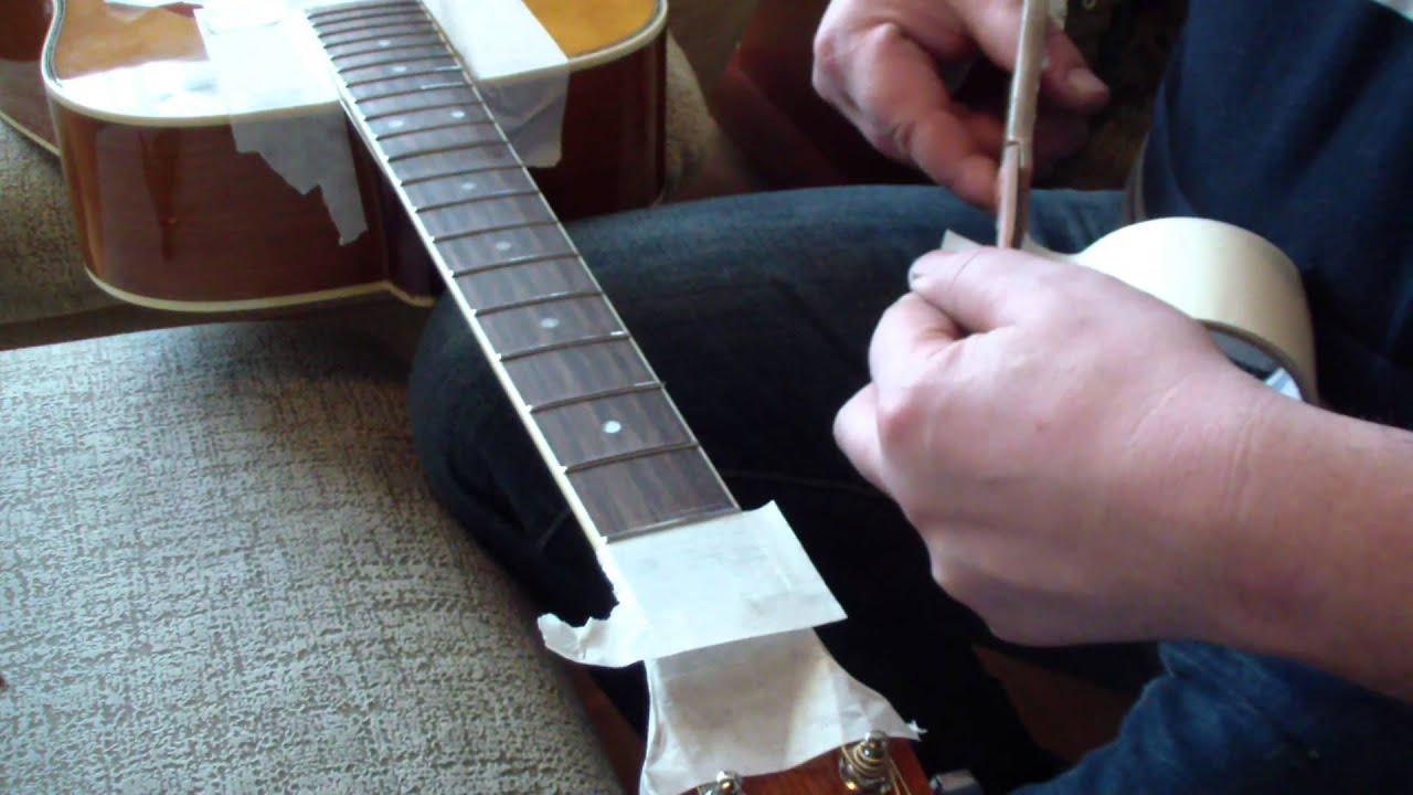 Замена ладов на гитаре своими руками 27