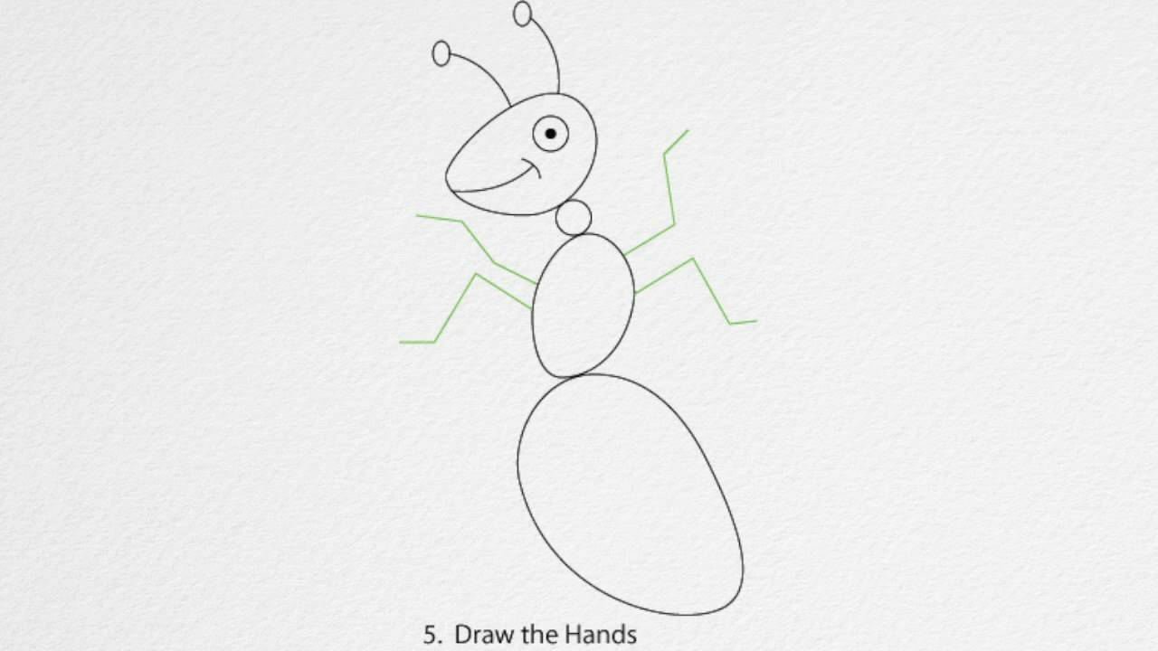 Simple Ant Drawing How to Draw an Ant Step by