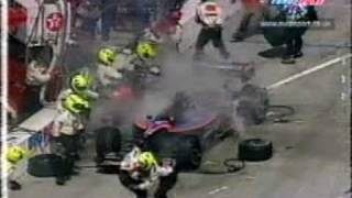 Christian Fittipaldi CART fire at Long Beach 2000