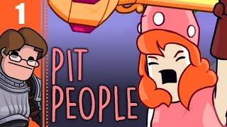 Let's Play Pit People Co-op Part 1 - Horatio Dies!