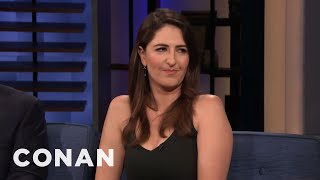 "D'Arcy Carden Feels Emotional About ""The Good Place"" Ending - CONAN on TBS"