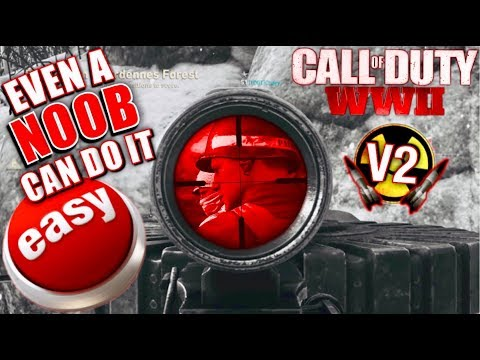 BEST WAY TO GET A NUKE in Call of Duty WWII So EASY EVEN A NOOB CAN DO IT! 100%