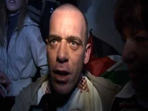 RELEASE OF FRANCO PALESTINIAN PRISONER SALAH HAMOURI IN JERUSALEM December 18th 2011