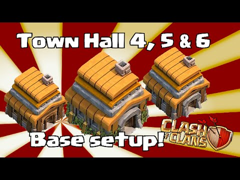 clash of clans - Town hall 4.5 & 6 Base Layouts