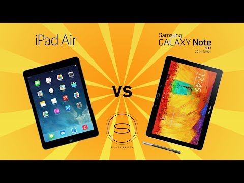 iPad Air 5 vs Galaxy Note 10.1 (2014 Edition)