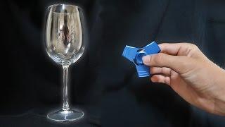 1000mph FIDGET SPINNER VS WINE GLASS!