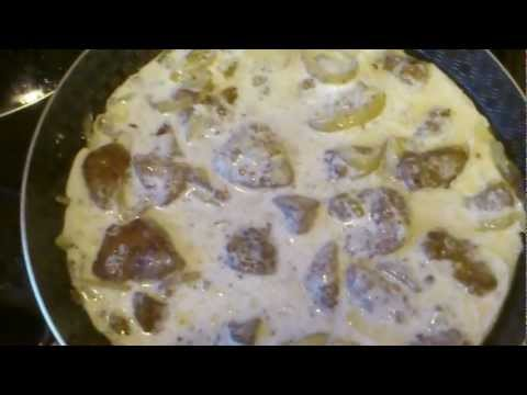 Как приготовить печень в сметане - видео