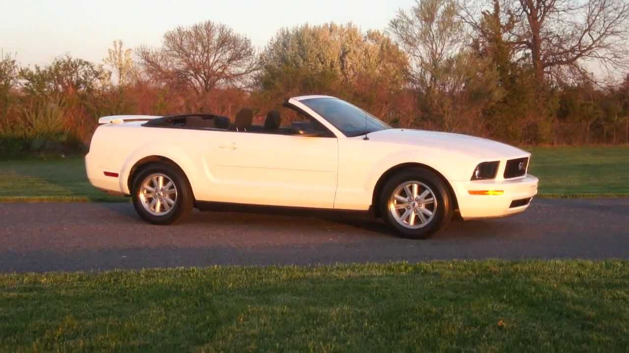 2006 Ford Mustang Convertible For Sale White Low Miles