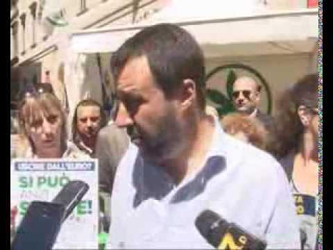 CONFERENZA STAMPA A MILANO 15052014 - INTERVISTA MATTEO SALVINI