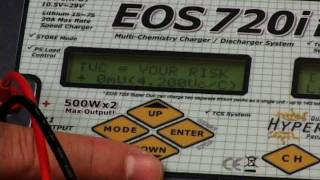How to cycle & store charge a lipo using the Hyperion EOS720i SUPER DUO 3 Charger